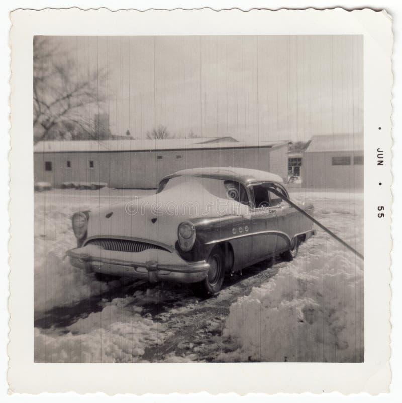 Weinlese Buick Fotographie 1953 lizenzfreies stockbild