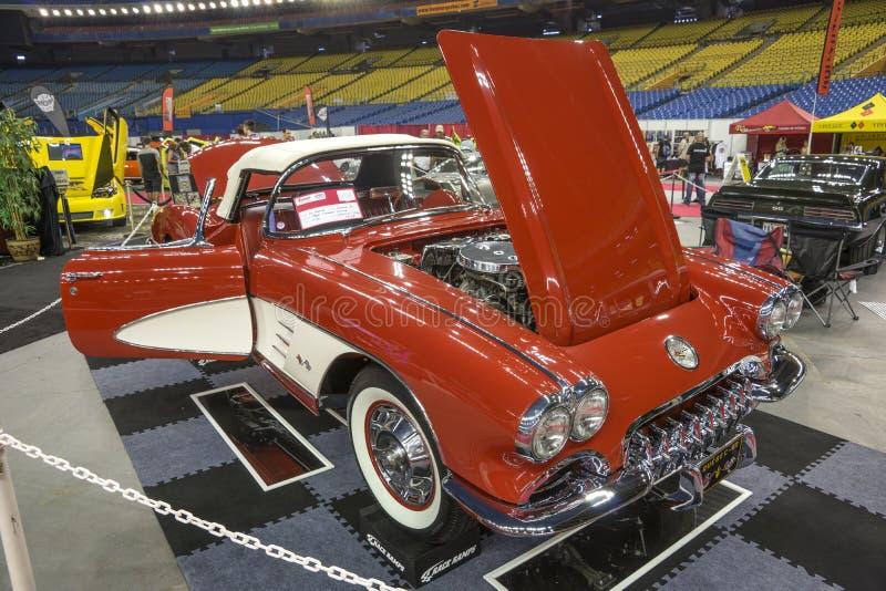 Weinlese Chevrolet Corvette stockfotos