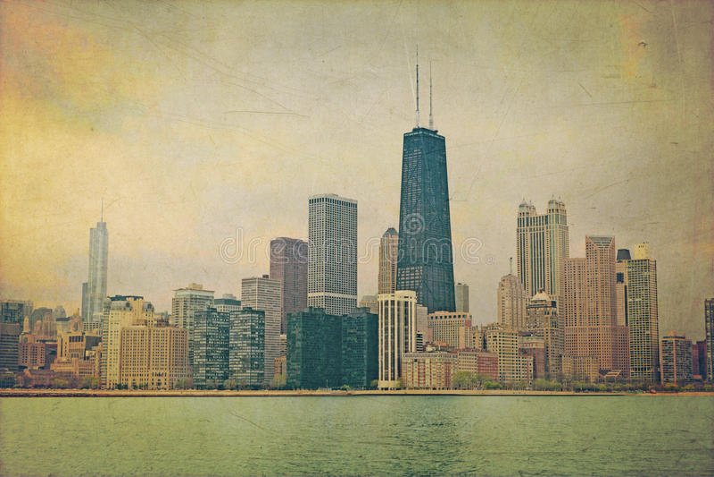 Weinlese Chicago stock abbildung