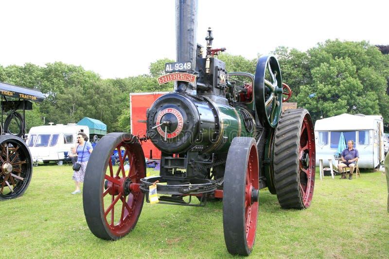 Weinlese Clayton 1911 u. Shuttleworth-Traktor lizenzfreie stockfotografie