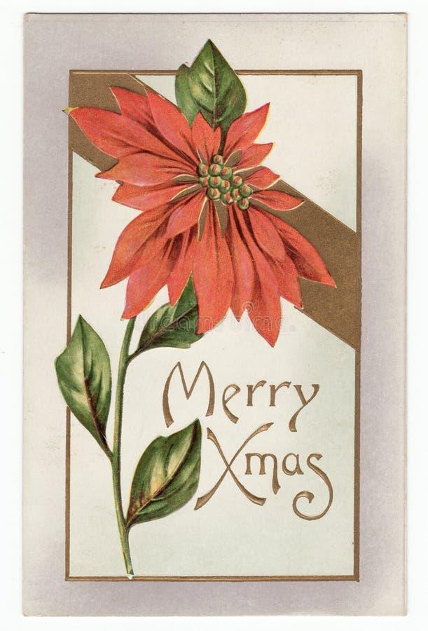 Weinlese-Danksagungs-Postkarte stock abbildung