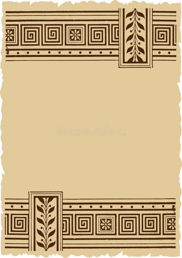 Weinlese-dekorative vektorhintergrund-mit Blumenauslegung stock abbildung