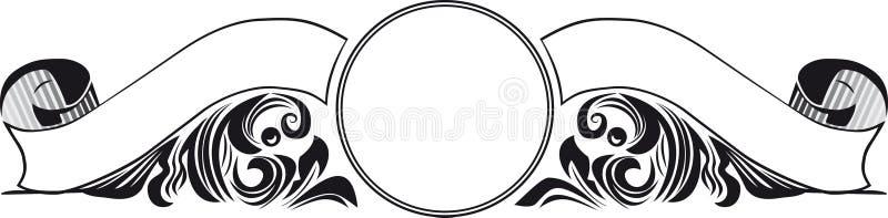 Weinlese-doppelte Fahne lizenzfreie abbildung