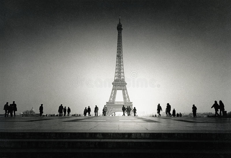 Weinlese-Eiffelturm lizenzfreie stockfotos
