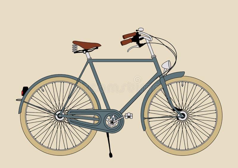 Weinlese-Fahrrad-Illustration stockfoto