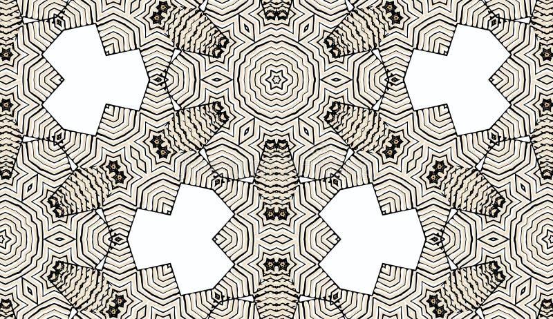 Weinlese farbiges mit Blumendekoratives vektor abbildung
