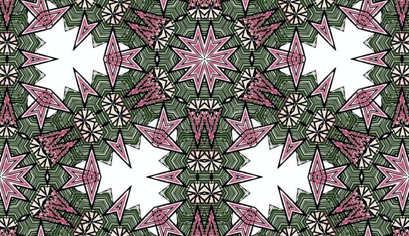Weinlese farbiges mit Blumendekoratives stock abbildung