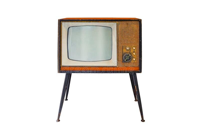 Weinlese Fernsehapparat lizenzfreie stockfotos