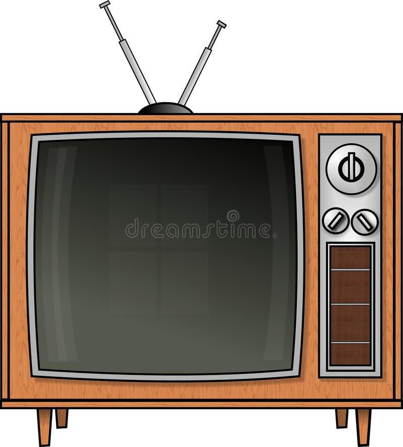 Weinlese-Fernsehen stock abbildung