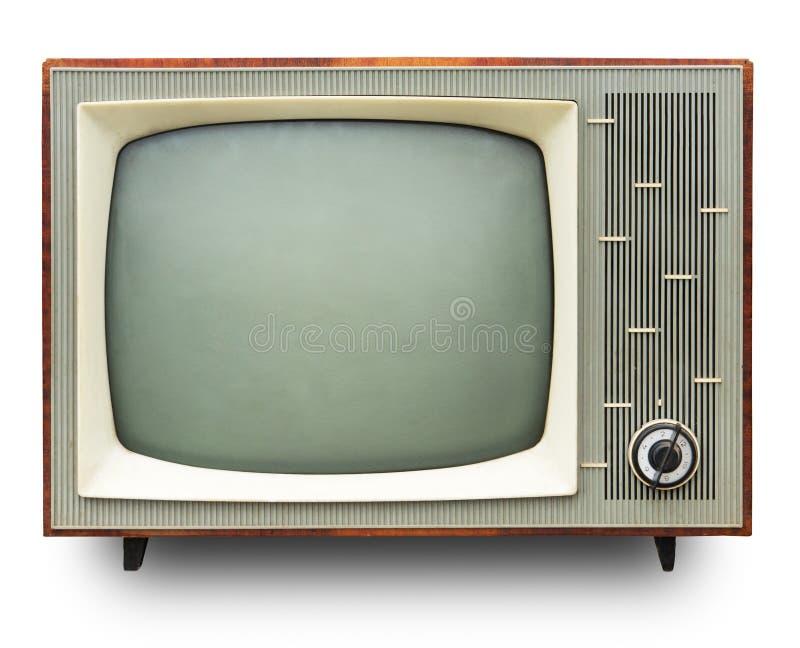 Weinlese-Fernseher stockbilder