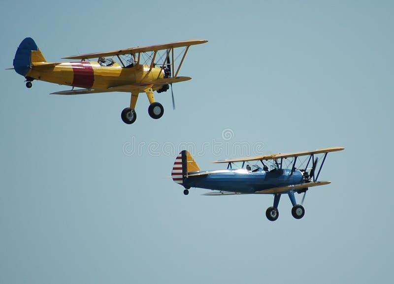 Weinlese-Flugzeuge lizenzfreie stockbilder