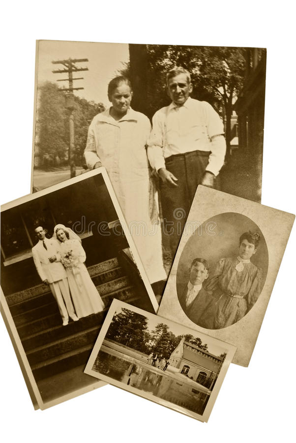 Weinlese-Foto-Paare lizenzfreies stockbild