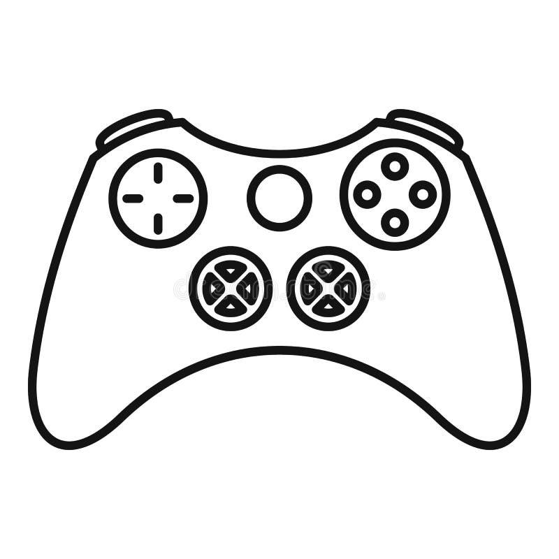 Weinlese gamepad Ikone, Entwurfsart lizenzfreie abbildung