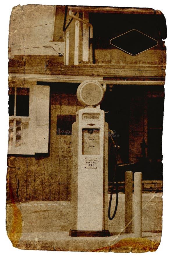 Weinlese-Gas-Pumpe stockfoto
