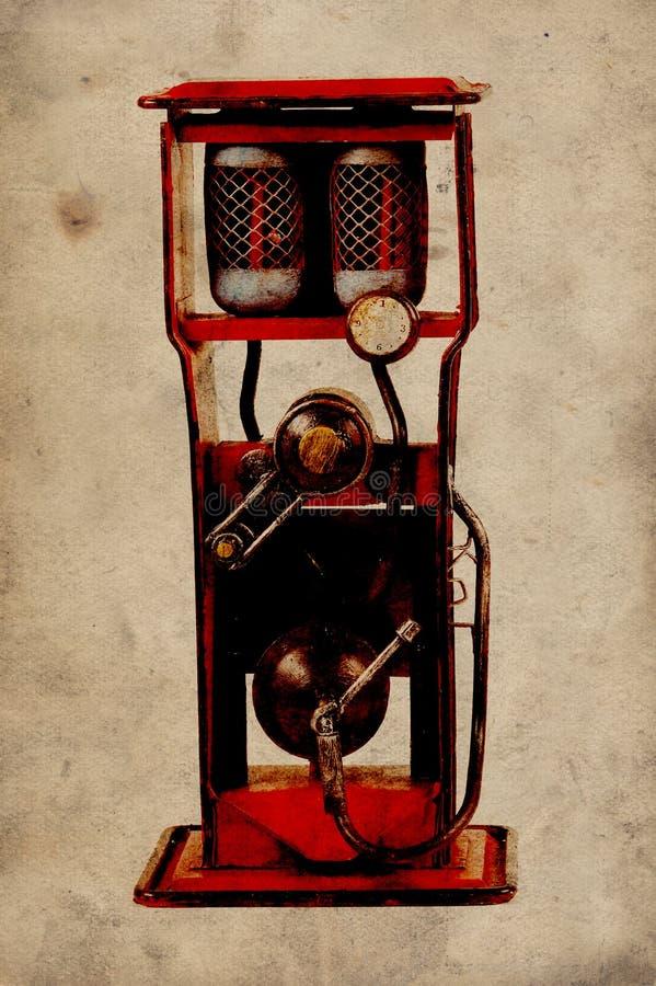 Weinlese-Gas-Pumpe lizenzfreies stockbild
