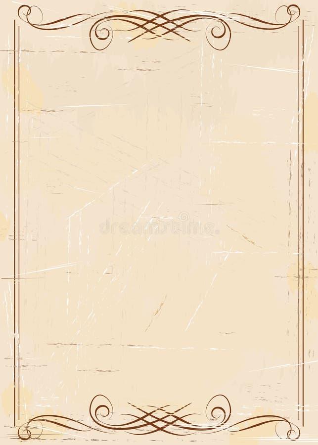Weinlese gealterter Papierhintergrund stock abbildung