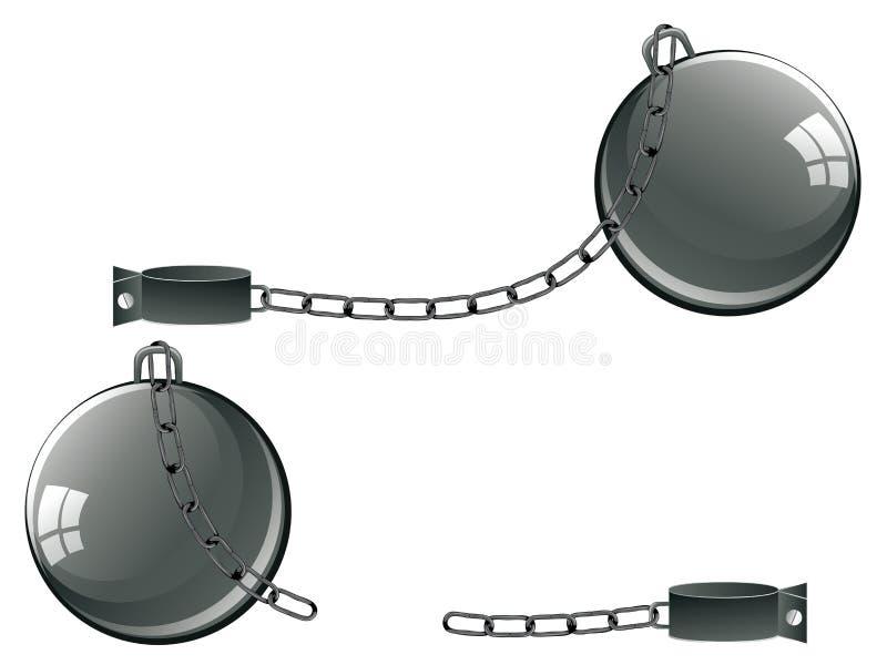 Weinlese-Gefängnis-Fesseln vektor abbildung