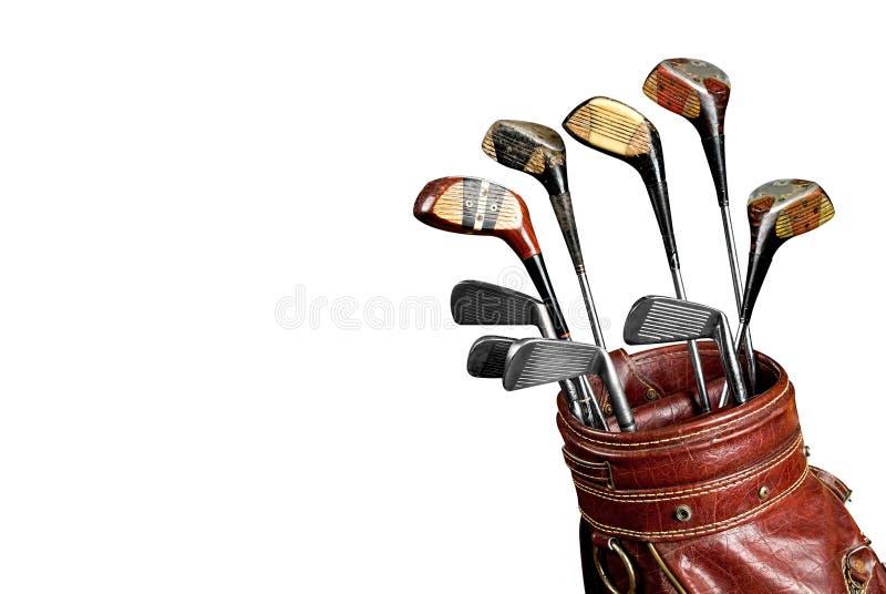 Weinlese-Golfclubs stockfotografie