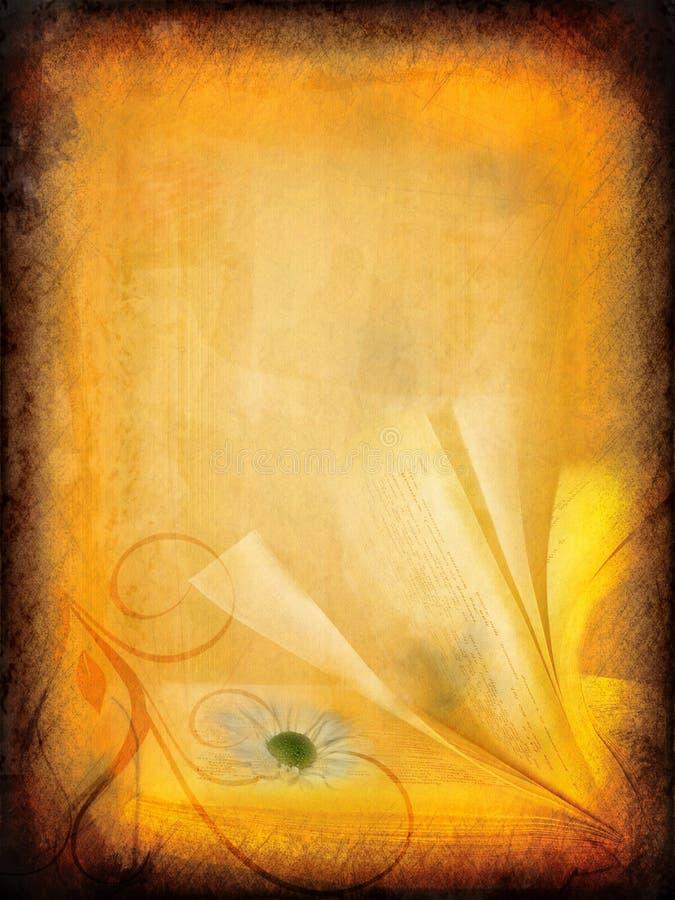 Weinlese grunge Blumenpapier lizenzfreie abbildung
