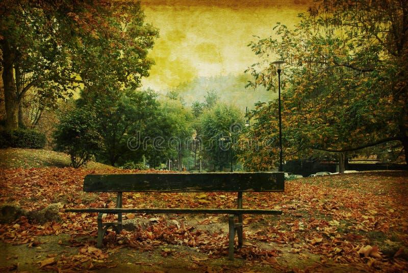 Weinlese grunge Hintergrund einer Herbstszene im Felsen stockbilder
