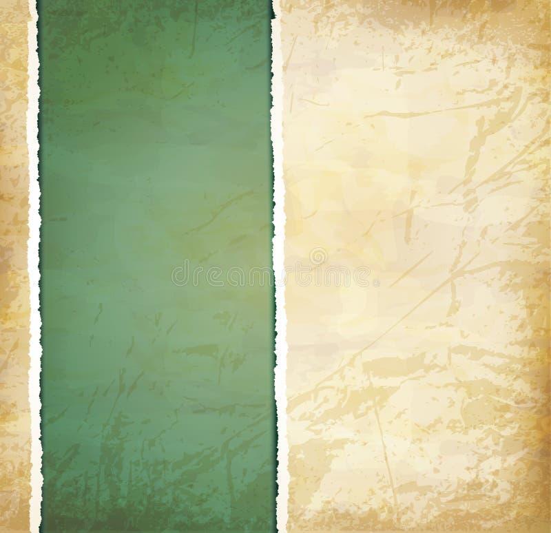 Weinlese grunge Hintergrund mit altem heftigem Papier vektor abbildung