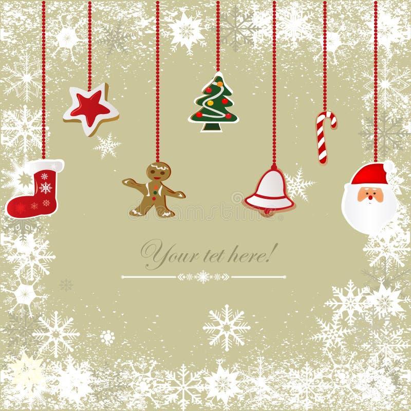 Weinlese, grungy Weihnachtshintergrund lizenzfreies stockbild