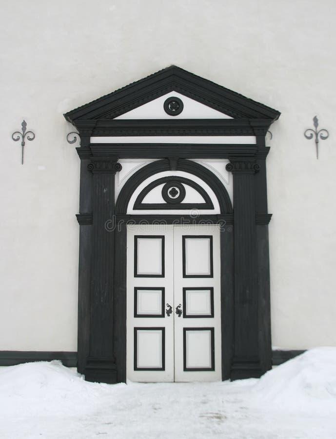 Weinlese-hölzerne Tür stockbild