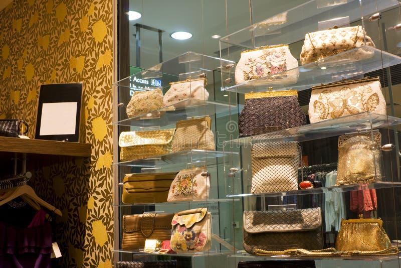 Weinlese-Handtaschen für Verkauf lizenzfreies stockfoto
