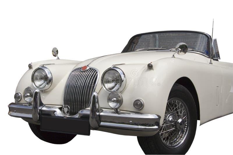 Weinlese-Jaguar - Kabriolett stockfotografie