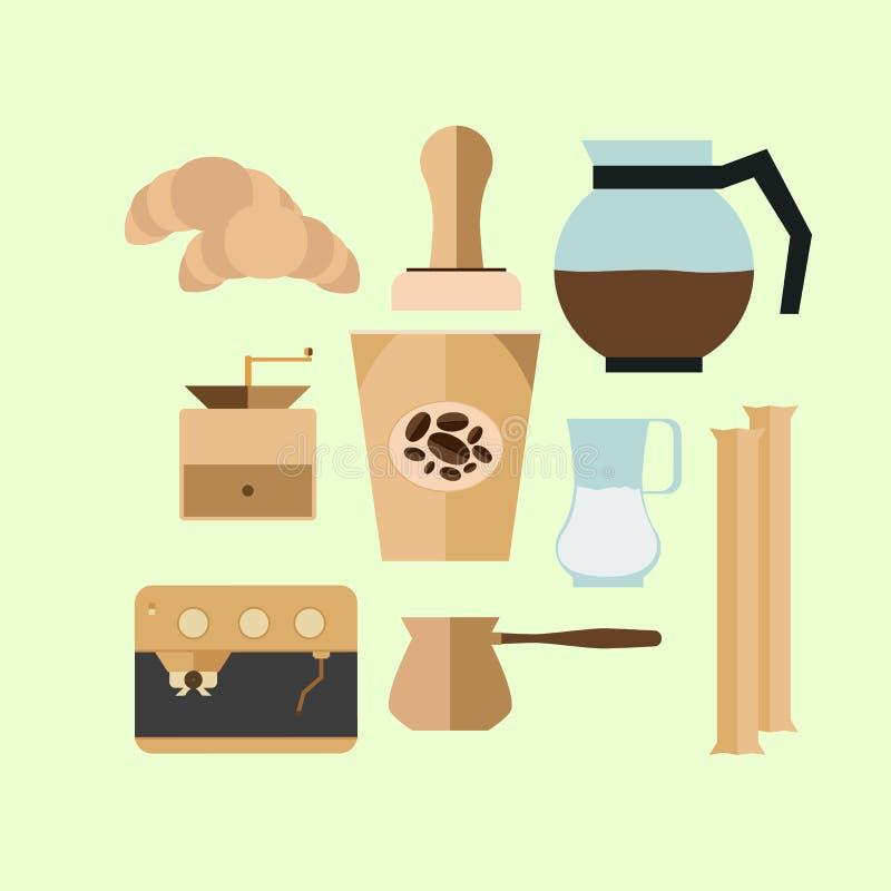 Weinlese-Kaffeetasseikonen für Ihr Design lizenzfreie stockfotos