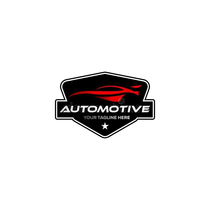 Weinlese/klassische Automobillogoentwürfe mit dem Ausweis stock abbildung