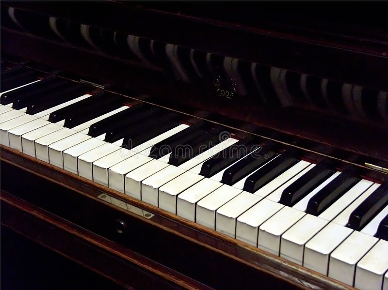 Weinlese-Klavier Stockfoto