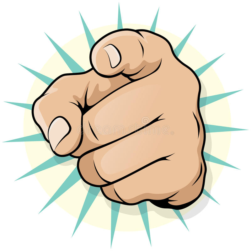 Weinlese-Knall Art Pointing Hand