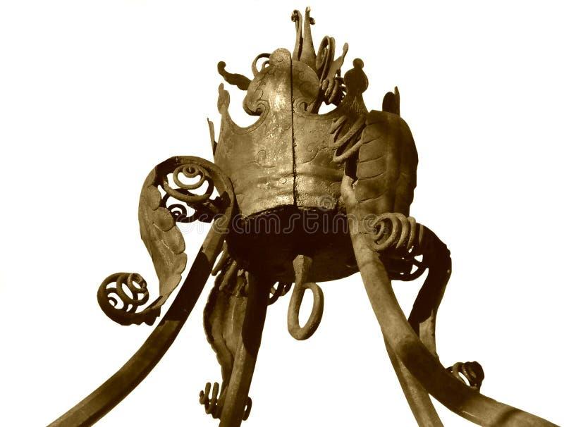 Weinlese-Krone, getrennt lizenzfreies stockbild