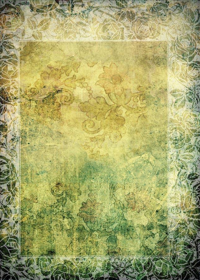 Weinlese - Kunst Nouveau Blumendruck-Rand vektor abbildung