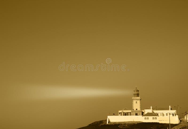 Weinlese-Leuchtturm Portugal lizenzfreie abbildung