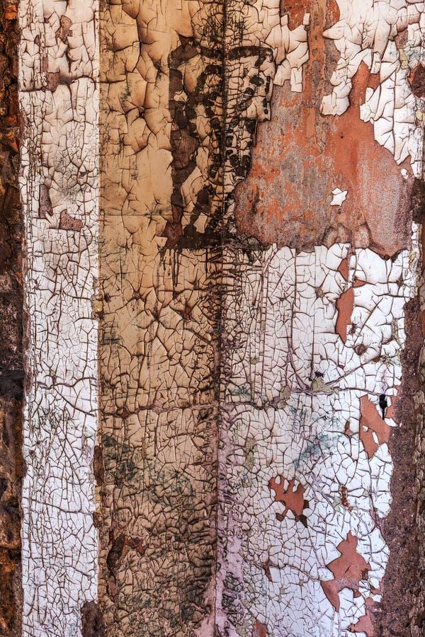 Weinlese malte hölzerne Hintergrundbeschaffenheit der hölzernen verwitterten rustikalen Wand mit Schalenfarbe Leerer Raum für alt stockfoto