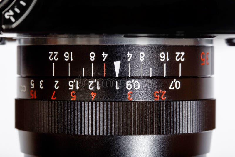 Weinlese-manuelle Fokus-Linse für einzelne Linsen-Spiegelreflexkamera SLRs lizenzfreies stockfoto