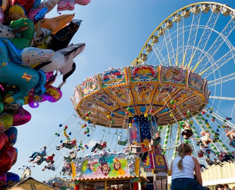 Weinlese Merry-go-round stockfoto