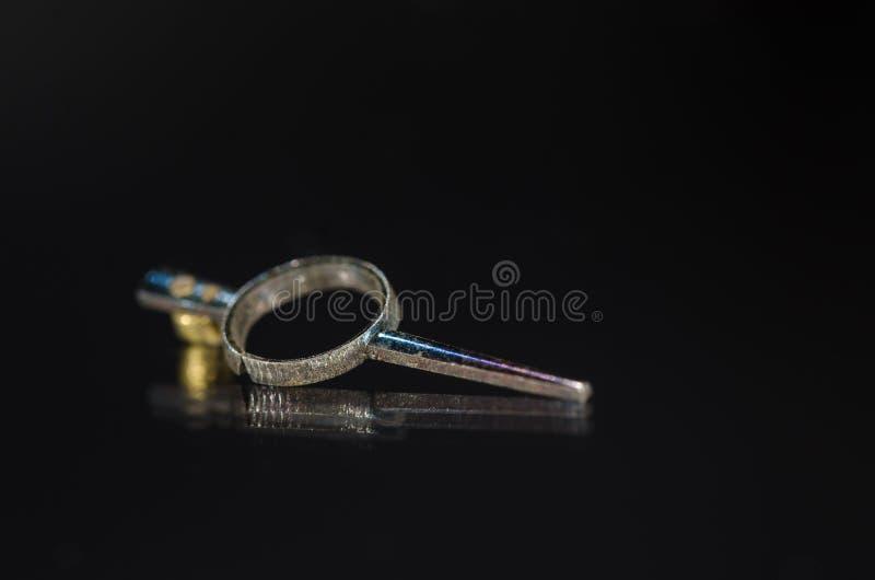 Weinlese-metallischer Taschen-Uhr-Regler lizenzfreies stockfoto