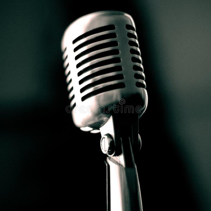 Weinlese-Mikrofon lizenzfreies stockfoto