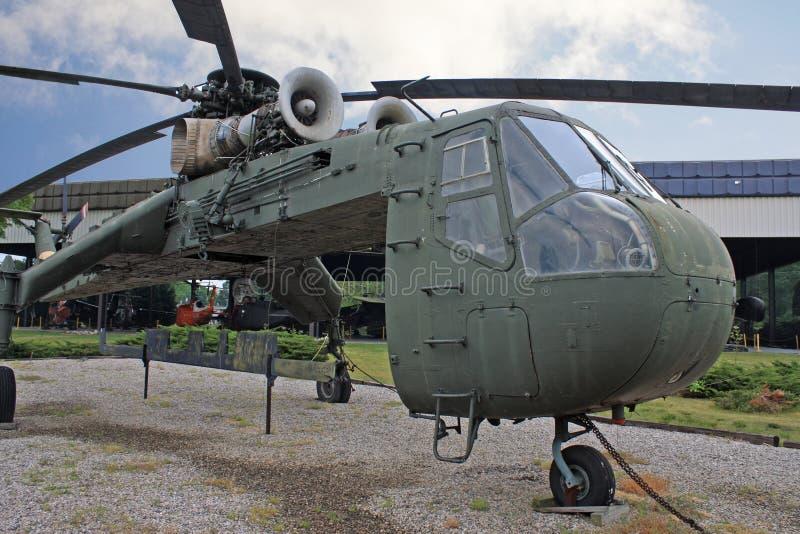 Weinlese-Militärhubschrauber stockfotografie