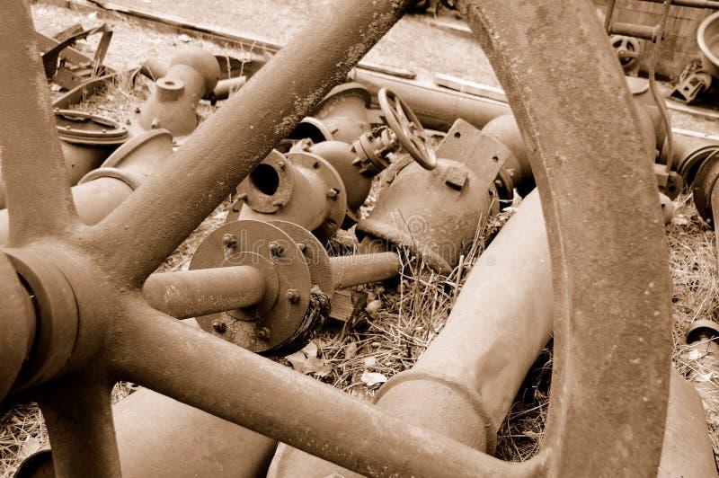 Weinlese-Minenmaschiene stockfotos