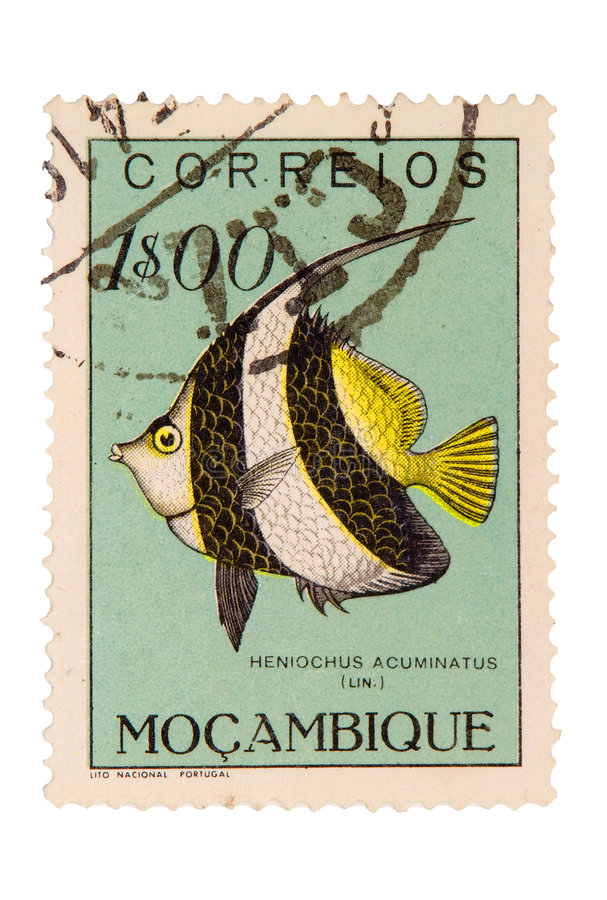 Weinlese-Mosambik-Briefmarke Stockbild