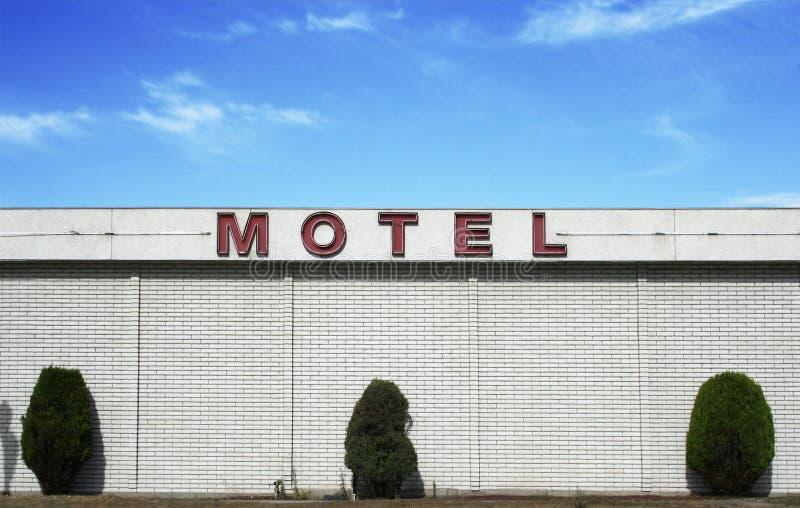 Weinlese-Motel stockbilder