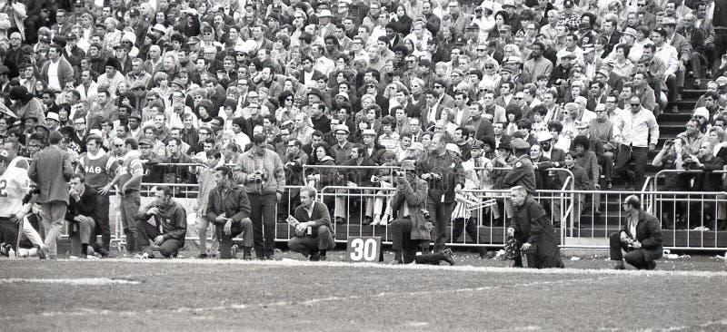 Weinlese NFL-Spiel ab 1969 lizenzfreies stockbild