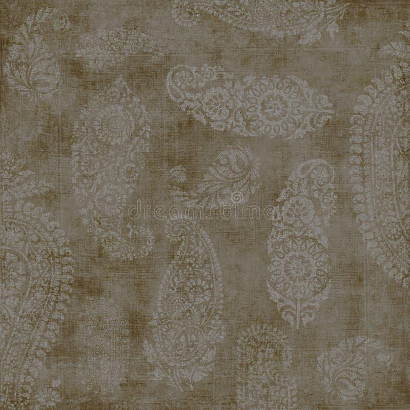 Weinlese-Paisley-Tapete lizenzfreies stockbild