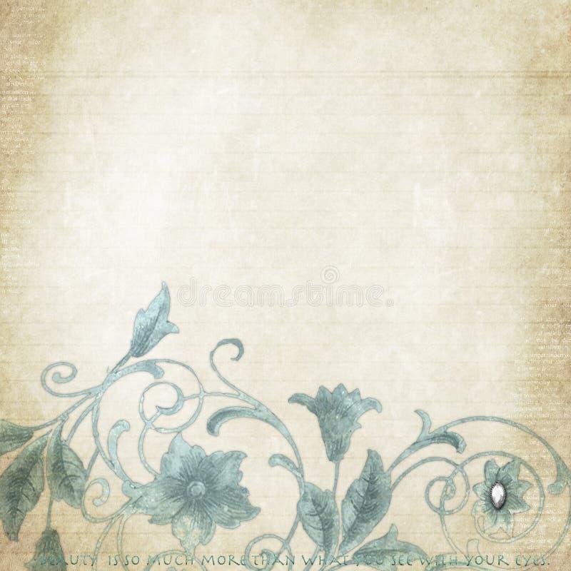 Weinlese-Papier stock abbildung