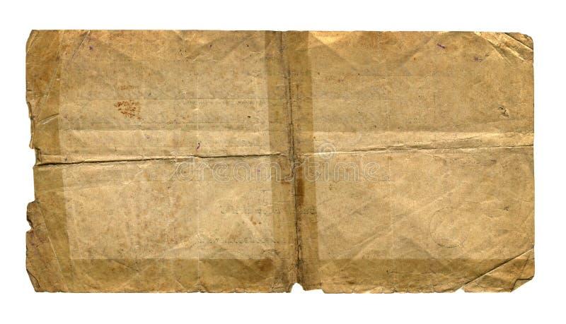 Weinlese-Papier stockbild