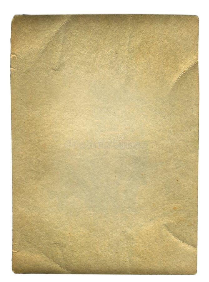 Weinlese-Papier lokalisiert stockfotografie